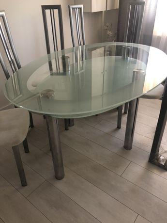 Stół szklany owalny