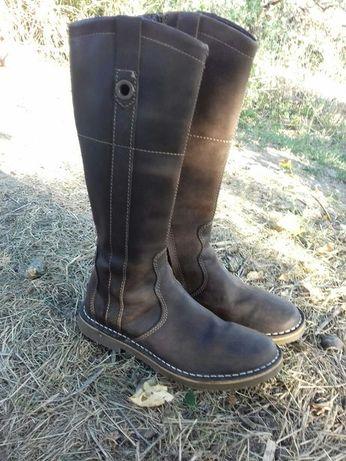 Фирменные кожаные сапоги сапожки ботинки чоботи как ecco Gabor Clarks