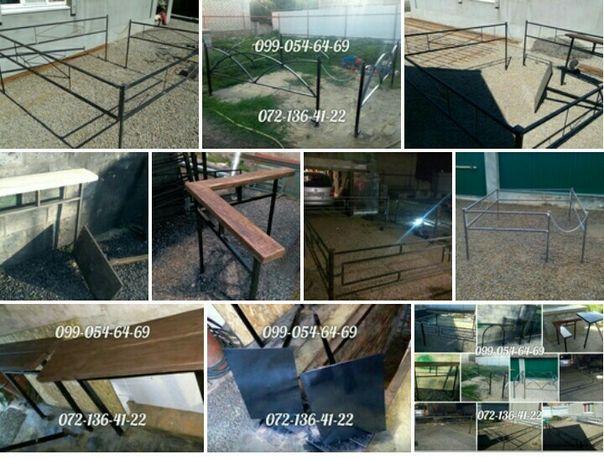 Оградки, столы, лавочки