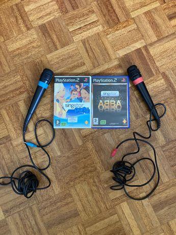 Jogos Singstar Party + Abba (PS2)