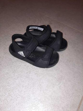 Sandalki adidas czarne r.22