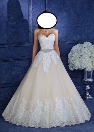 Suknia Ślubna 165cm + 3cm +welon