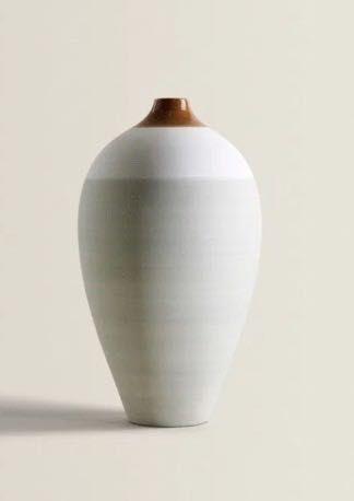 nowy wysoki dwukolorowy wazon 34 cm, ZARA Home, 269zł