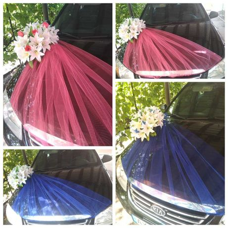 НОВОЕ Украшение на свадебную машину, Икебана, прикраси на авто, ручки
