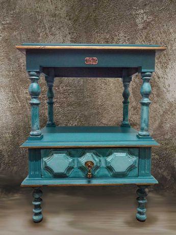 Móvel apoio/mesa de cabeceira vintage novo