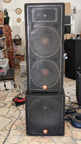 Vende-se PA, Colunas, mesas de som, amplificadores, luzes...