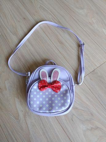 Plecak dziewczęcy torebka mały plecaczek fioletowy saszetka fioletowy