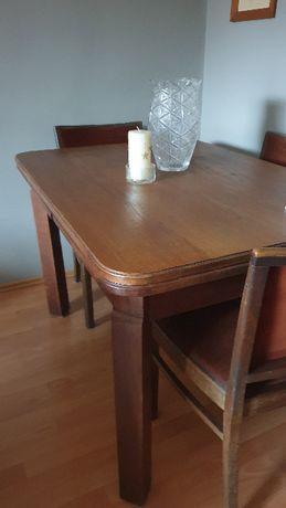 Stół rozkładany stary - dąb z krzesłami lub bez.