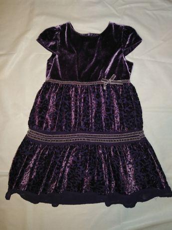 Okazjonalna pluszowa sukienka 104/116rozm.