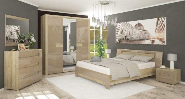 Спальня Флоренс в наявності, ліжко, шафа, комод, тумби, кредит 0%