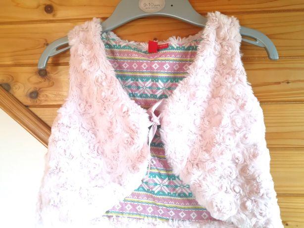 Жилетка 120 см для девочки, нарядная, розовая, детская жилетка