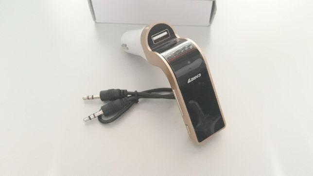 Carregador Isqueiro > USB (Bluetooth + Cabo 3.5mm)