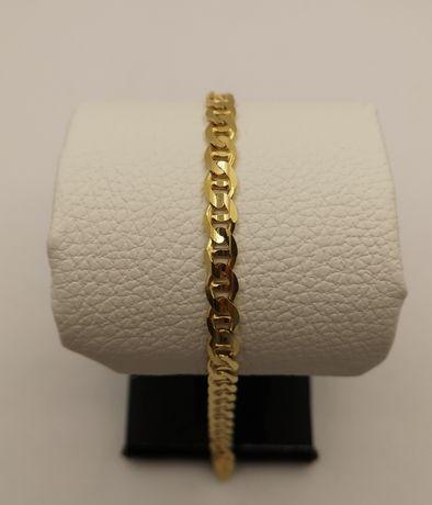 Piękna złota branzoletka. Gucci. Nowa. Złoto 14k/585. 22,5cm