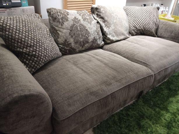 Zestaw wypoczynkowy duża kanapa plus duży fotel