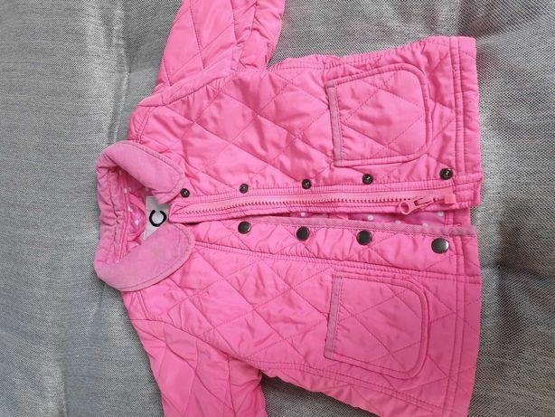 kurtka pikowana różowa 86 cm