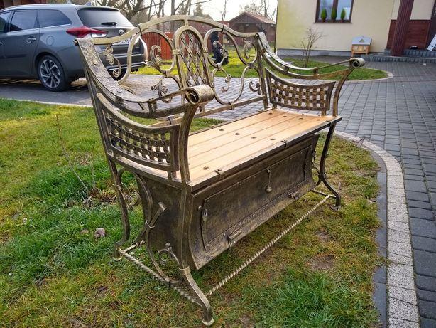 Ławka cmentarna ławeczka ogrodowa kuta, kowalstwo artystyczne