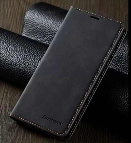 SAMSUNG GALAXY S10 szare etui na magnez portfel karty
