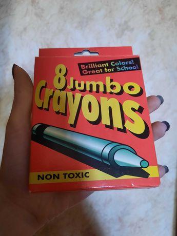 Карандаши восковые Crayons 8 шт.