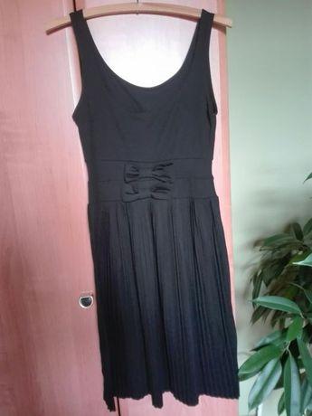 Czarna,plisowana sukienka rozmiar S