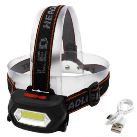 Ліхтарик налобний BAILONG LED акумуляторний ліхтар з USB зарядкою