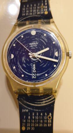 Swatch Azul 1999 Calendário