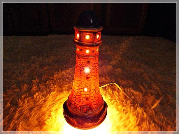 Kolekcjonerska stara Latarnia morska - lampka nocna! Śliczne CUDO!