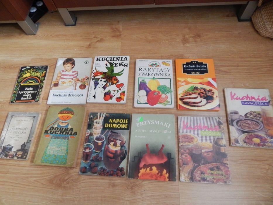 Książki kucharskie, książki kulinarne - zestaw 14 książek