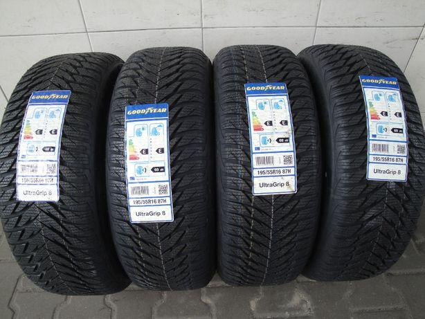 Opony Zimowe 195/55R16 87H Goodyear Ultra Grip 8 x4szt. nr.1089s