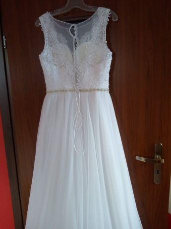 """Sukienka ślubna - model """"Paryżanka"""" rozm. 38, wzrost 167 cm+5 cm obcas"""