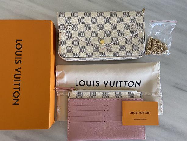 Mala Louis Vuitton Pochete Felicie Damier Azur