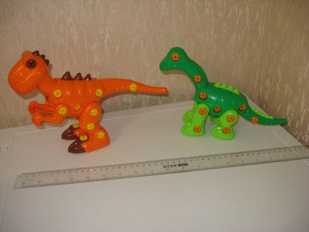 """Винтовой конструктор динозавр """"Тираннозавр"""" и """"Диплодок"""" ."""