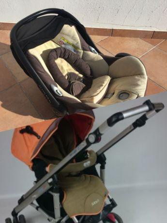 Conjunto carrinho bebe loola up + cadeira auto ovo maxi cosi