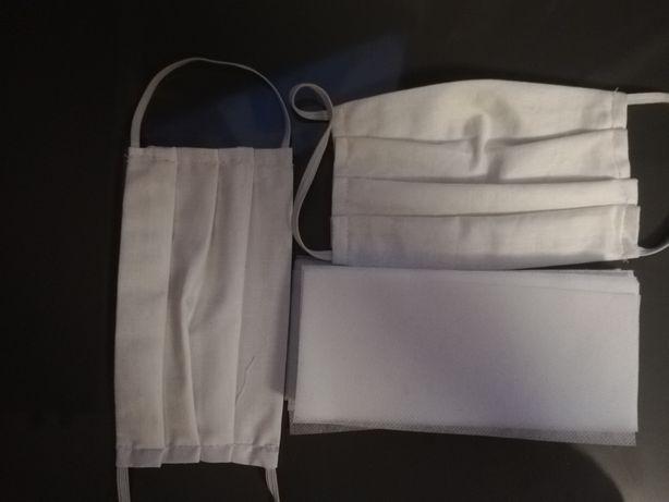 5x Bawełniane maseczki ochronne plus filtry 50 sztuk