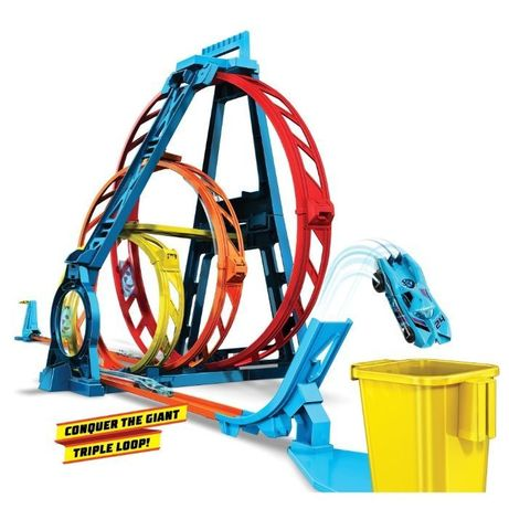 Hot Wheels Трек Хот Вилс Тройная петля Hot Wheels Track Builder