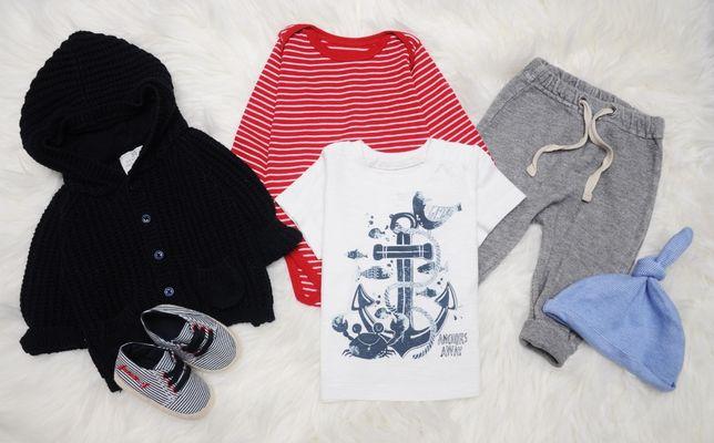Wyprawka/ubranka dla chłopca mega zestaw/paka 50 szt 0-3m 56/62 H&M