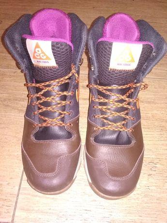 Кроссовки,хайтопы Nike оригинал,кожа