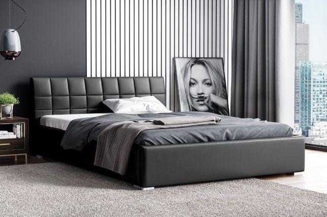 Łóżko Kendi ze stelażem metalowym i pojemnikiem