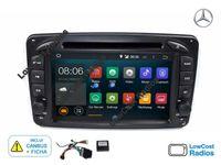 AGOSTO: Auto Rádio GPS Mercedes Classe C Android 10 - W203 e W209