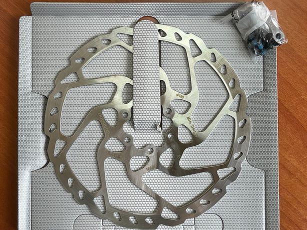 SHIMANO Rotor travão disco de 6 parafusos (180 mm) SLX SM-RT66 / NOVO