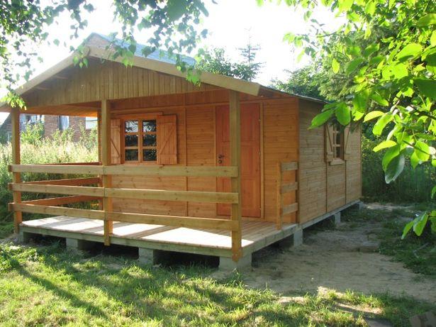 domek drewniany letniskowy działkowy z drewna altanka domy dom WARBIT