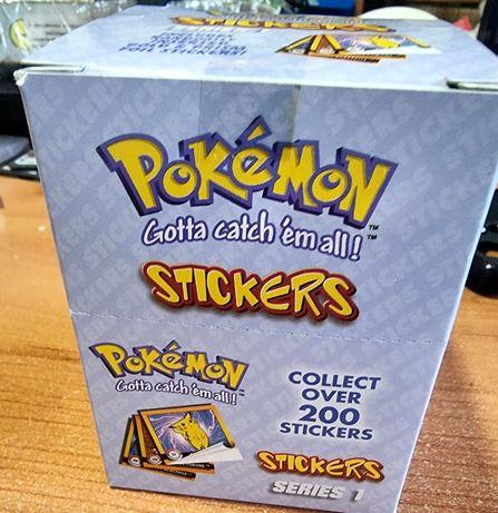 Pokemon Stickers 1999 Caixa Cromos Series 1 -30 Saquetas/ 300 Cromos