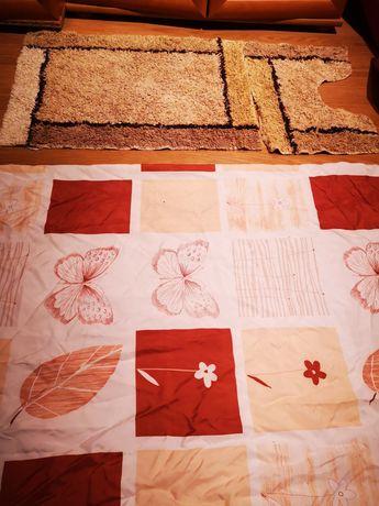 Zasłona prysznicowa TANIO plus dywaniki