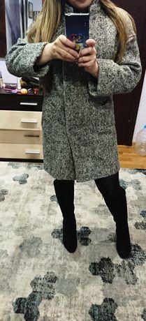 Крутое шерсяное пальто свободного кроя. Идеальное состояние