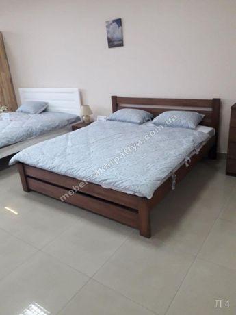 Кровать деревянная двуспальная односпальная. Ліжко. Мебель для спальни