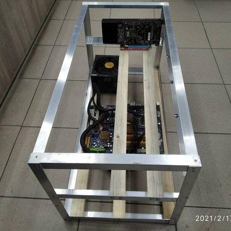 Корпус,стойка каркас майнінг, (mining) ферми для  відеокарт RX570 580