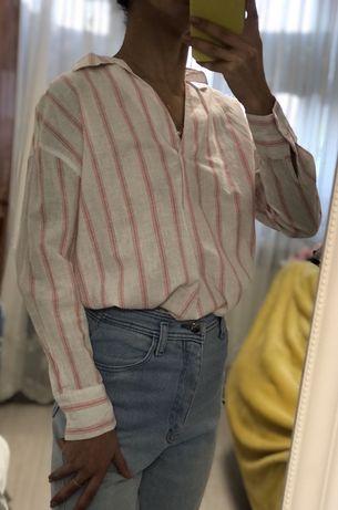 Рубашка/блузка из льна (лён)