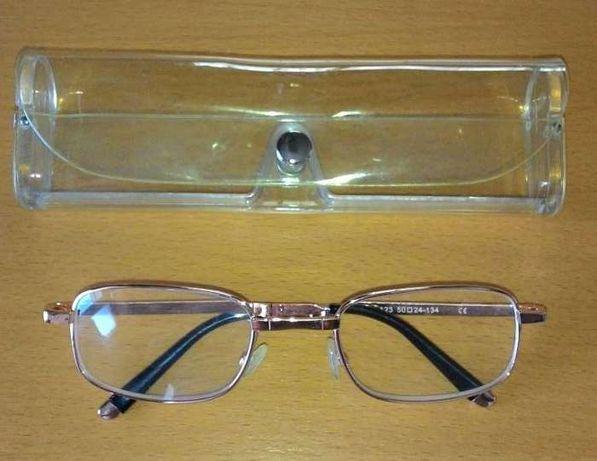 Oculos com armação dourada