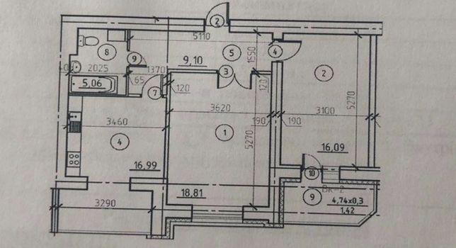 Новострой на 5 этаже