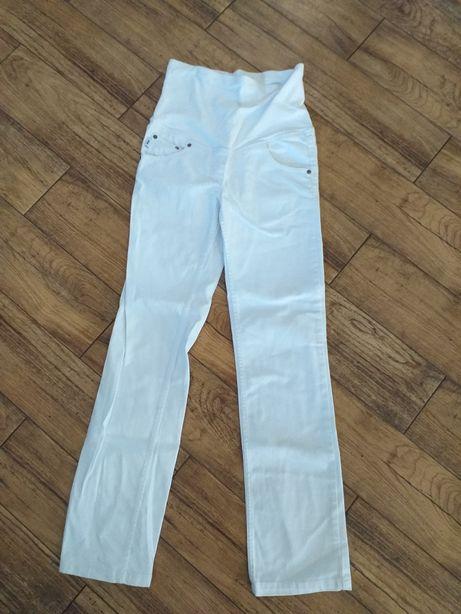 Letnie spodnie ciążowe Pop białe roz Xs 34