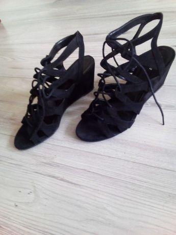 Buty Sandały damskie czarne 40